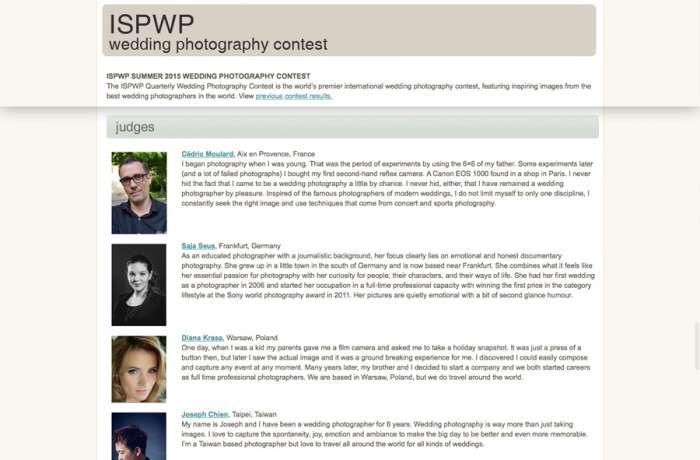 We judge in ISPWP contest! Wedding photographer Warsaw Poland Krakow Lublin photography